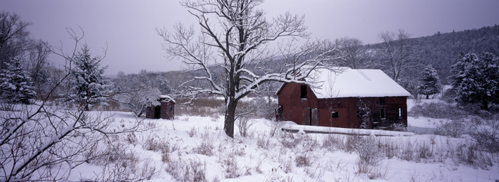 Clove Barn, Winter Panoramic [2052]