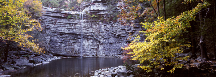 Awosting Falls, Autumn Panoramic [2094]
